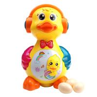 宝宝电动玩具会下蛋的小鸭子音乐万向车1-3岁益智会动的儿童玩具 +充电套装 送3节5号电池