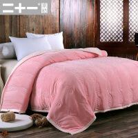 珊瑚绒毯被毯毛毯双层加厚秋冬季毯子夹棉盖毯绒毯毛毯被子