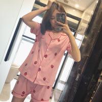 史努比纯棉睡衣女夏短袖短裤二件套韩国女学生卡通条纹薄款家居服 XXX