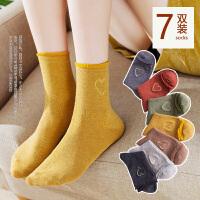 袜子女中筒袜韩版学院风长筒韩国秋冬款棉保暖冬天日系加厚羊毛