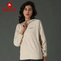 【书香节】Marmot/土拨鼠户外运动女士保暖透气开衫连帽抓绒衣