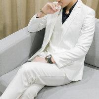 男士西装三件套修身韩版潮薄款大码正装伴郎团礼服新郎主持人西服