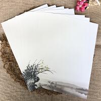 古风信纸 小清新A4B5信纸复古信笺日式樱花情书纸花纹打印纸 深紫色 A4信纸-兰花