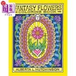 【中商海外直订】Fantasy Flowers Coloring Book No. 1: 24 Designs in