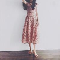 沙滩裙女夏泰国三亚旅游海边度假长裙子复古温柔风碎花雪纺连衣裙 图片色