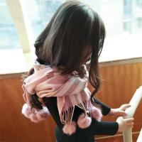 儿童秋冬季保暖女童韩版公主女孩甜美可爱小学生格子女大童潮围巾