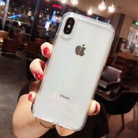 简约苹果X手机壳玻璃苹果8plus透明手机壳xs男女潮款iPhoneXS MAX全包7plus防摔套 iPhoneXS