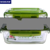 耐热玻璃饭盒微波炉专用保鲜盒水果沙拉带饭便当盒单个带盖泡面碗