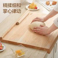�凼诉_GJ43W2WG橡�z木砧板��木家用和面面板�N房�子案板大型菜板�{面板