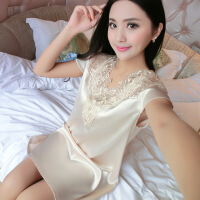 女士公主丝绸女吊带蕾丝连衣裙韩版薄款大码短裙夏季薄款