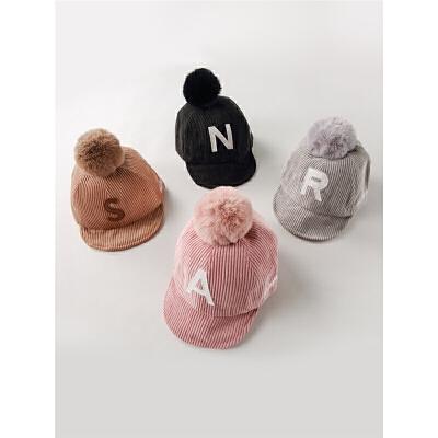 婴儿帽子女宝宝秋冬季女童鸭舌帽秋季婴幼儿童帽男童棒球帽小孩帽