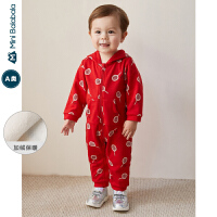 迷你巴拉巴拉童装婴儿连体衣加绒男女宝宝2019冬新款童装