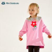 迷你巴拉巴拉女童长袖套装2020儿童套装卫衣套装运动洋气时髦童装