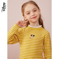 【3件3折券后价:58.7元】迪士尼女童毛衣2021秋季新款儿童打底衫女针织衫时尚长袖上衣