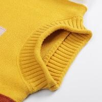 女童毛衣2018新款套头洋气打底儿童上衣宝宝针织衫男小孩韩版反季