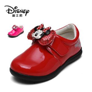 【达芙妮集团】迪士尼 魔术贴公主鞋中小童皮鞋童鞋