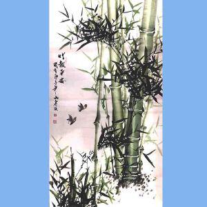 湖南人,擅长画花鸟尤其擅长画竹子,中国书画院理事吕山泉(竹报平安)4