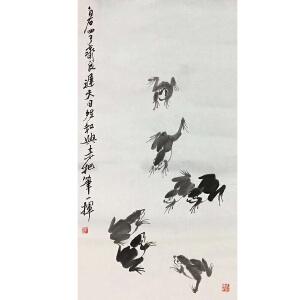 擅画花鸟虫鱼,齐派绘画艺术的继承者齐良迟(青蛙)7