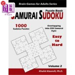 【中商海外直订】Samurai Sudoku Puzzle Book: 1000 Easy to Hard Sudok