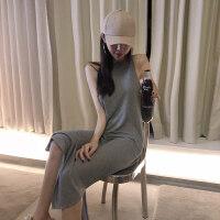 2019夏季新款女装吊带小黑裙显瘦背心长裙连衣裙chic性感打底裙子