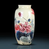 景德镇复古陶瓷花瓶创意干花插花中式现代简约家居客厅装饰品摆件