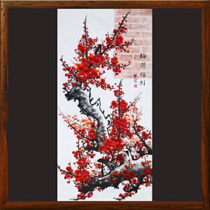 花鸟画《梅开福到》R5177  宋世荣 精品手绘梅花