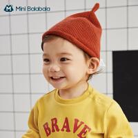 迷你巴拉巴拉儿童帽子2020秋季新盆帽婴幼儿柔软透气舒适防晒帽