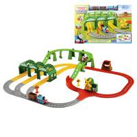 托马斯小火车头合金轨道套装玩具旋转赛道雾雾岛提茅斯机房车库 礼盒包装