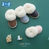 儿童棉鞋女童2018新款冬季绒款fang滑包跟宝宝可爱室内保暖加厚棉鞋