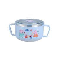 儿童饭碗防摔家用宝宝餐具婴儿防烫辅食碗宝宝吃饭带盖双耳柄碗具