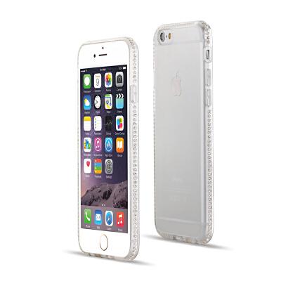 苹果6s plus手机壳透明带钻iphone6s保护套硅胶防摔水钻软壳