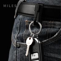 不锈钢钥匙扣男士腰挂穿皮带钥匙扣挂件创意 裤带钥匙扣男