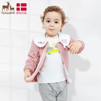 欧孕女童外套2019新款春秋童装韩版1-3岁婴儿宝宝翻领外套洋气小女孩
