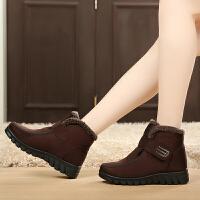 冬季老北京布鞋牛筋底高帮加厚保暖女棉鞋雪地靴防滑中老年女棉靴
