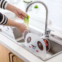 厨房小工具创意水池挡水板用品家用水槽隔水防溅水神器防溅油挡板 图片色