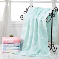 纯棉纱布浴巾两层柔软吸水加大家用浴巾男女大毛巾亲肤超薄款 70x140cm