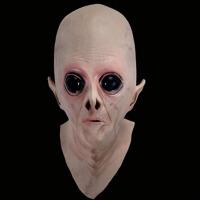 �f圣�外星人�^套�影主�}面具cos鬼面具恐怖��人乳�z�^套 UFO面具