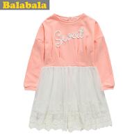 巴拉巴拉balabala女童连衣裙春装新品公主风儿童连衣裙童装