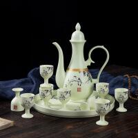 景德镇陶瓷酒具套装家用中式分酒器仿古宫廷高脚酒壶白酒杯整套