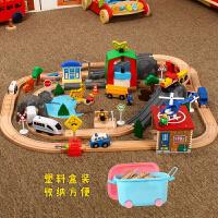 木质托马斯电动小火车发声轨道套装情景 儿童拼装木质玩具车定制 官方标配