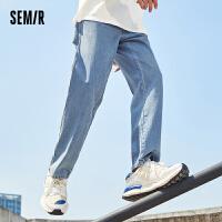 森马牛仔裤男2021秋季新款韩版潮流基础男士高街港风宽松直筒长裤