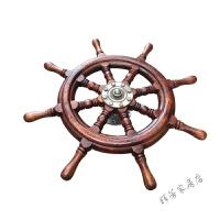 船舵家居饰品酒吧装饰挂件复古实木舵手壁挂领航舵方向舵盘舵 1