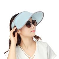 夏天遮阳帽防晒帽男女帽百搭户外出游沙滩帽遮脸太阳帽