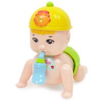 婴儿童会唱歌跳舞爬行宝宝音乐电动玩具男女孩0-3-6-8-12个月娃娃 送电池+螺丝刀