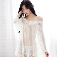 极度诱惑情趣内衣透明性感蕾丝睡衣女士大码露肩激情性感睡裙激情套装