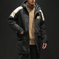 男士棉服新款连帽加厚棉衣韩版潮流冬天棉袄青年中长款外套男