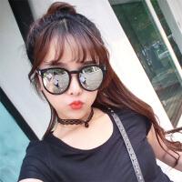女士街拍圆脸墨镜太阳眼镜女士韩版潮流个性造型墨镜