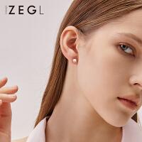 女士气质耳饰925银淡水珍珠耳钉6件套小耳骨钉银耳环