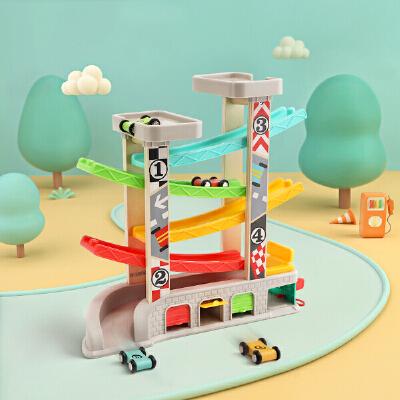 特宝儿 1-2周岁早教儿童益智轨道滑翔车男孩玩具小汽车宝宝玩具车120402