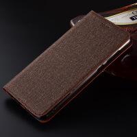 小米max2手机壳全包皮套max3pro手机套硅胶6.44寸保护壳软壳棉麻 小米max3 棉麻咖啡【翻盖】